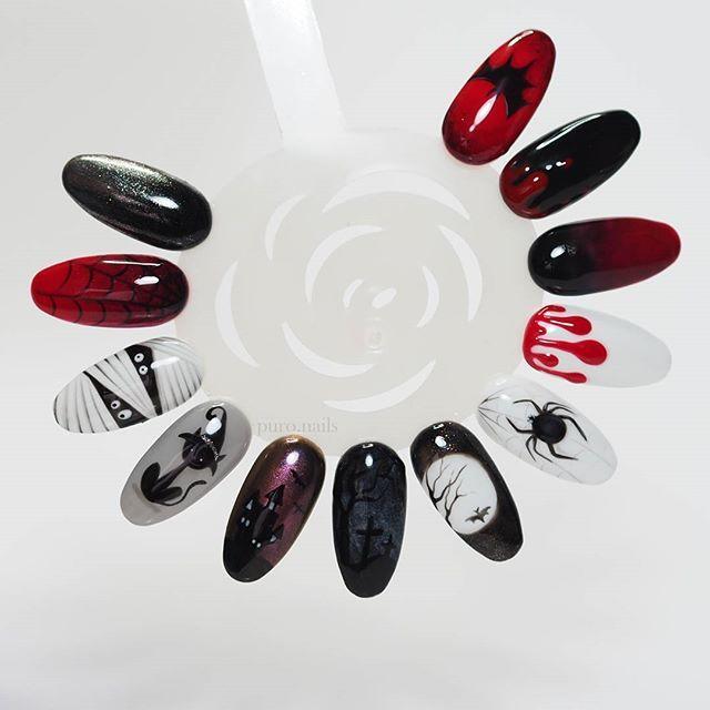 Few inspiration :) only gel polish, Black Pearl ---> bpnails.pl  #nailart #nailsoftheday #nails #nail #hybrydnails #hybrydymanicure #instant #instanail #nails2inspire #paznokciehybrydowe  #paznokcie  #nailartist_manicure #nails #nailswag #gelnails #nailsmagazine  #nailru #nailstagram  #nailitdaily #nailpro  #instagramnails  #halloweennails  #halloween  #beautifulnails #trna #livelovepolish #blacknails #bpnails
