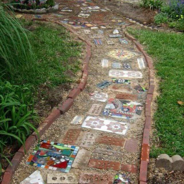 Garden path garden pinterest gardens paths and Types of pathways in landscaping