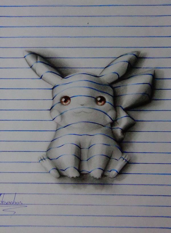 Clever 3D Notebook Art from a 15-Year-Old Artist