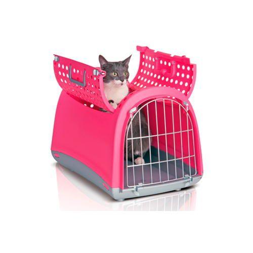 Cage de transport au design unique avec porte supérieure pour #chiens et #chats (existe en 3 coloris) à 40€95 sur www.TiendAnimal.fr