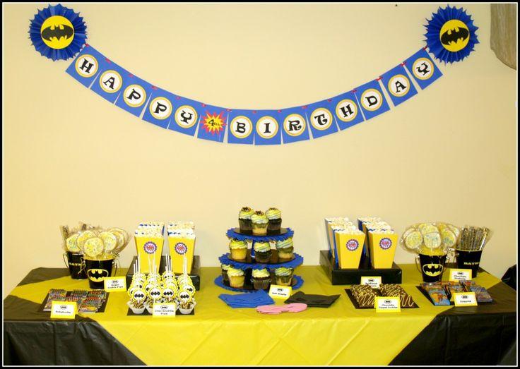 Batman Birthday Party: Kids Parties, Birthday Parties Theme, Theme Parties, Parties Printable, Batman Birthday Parties, Parties Ideas, Batman Parties, Desserts Tables, Birthday Ideas