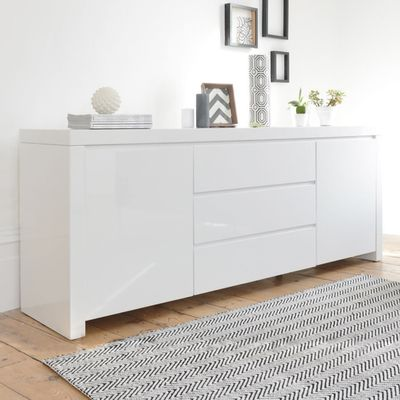 Click to zoom - Newton storage sideboard white