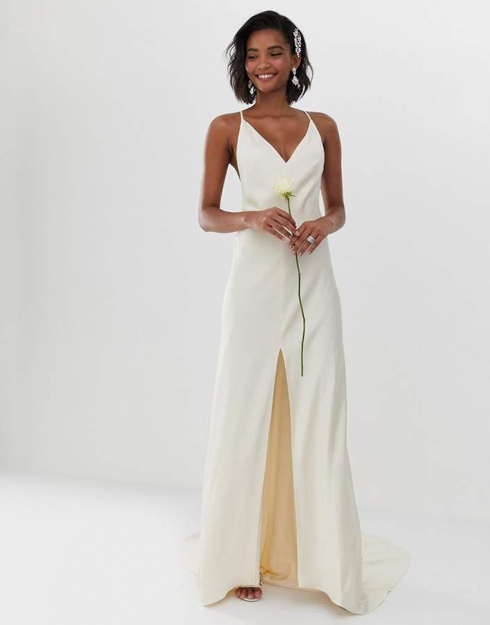 b951545445d EDITION cami split front wedding dress in 2019 | Divine dresses ...