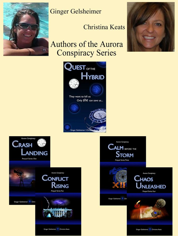 Two talented ladies, one great series! Based on the true account of the 1897 UFO crash in Aurora, Texas, this series was born from a single question: what if? I think the authors put forth a fantastic tale in answer to that question. If you love aliens, time travel, and incredible journeys, you must get this series! http://www.amazon.com/dp/B00L4N3766 Get a better look at these 2 talents here: http://chameleon-author.blogspot.com/2014/03/author-showcase-ginger-gelsheimer-and.html