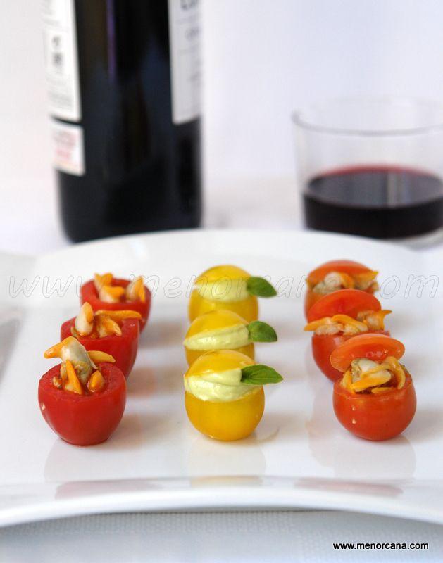 Tomates cherry rellenos para aperitivo - Ana en la cocina