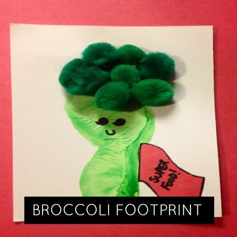 keepsake broccoli footprint... It's a super food for a super baby/kid!