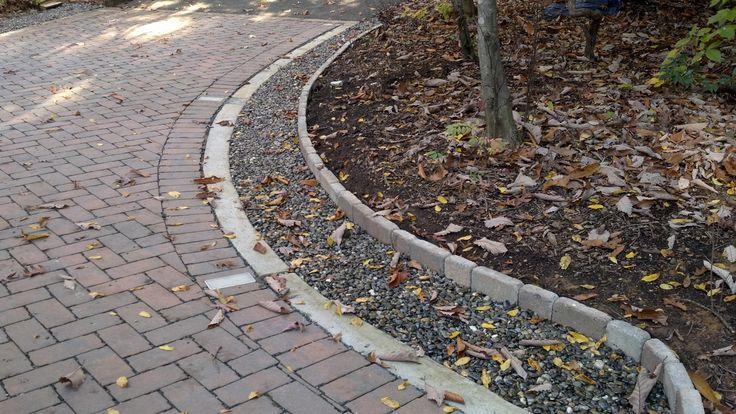 french drain02 French drain, Walkway, Stone walkway