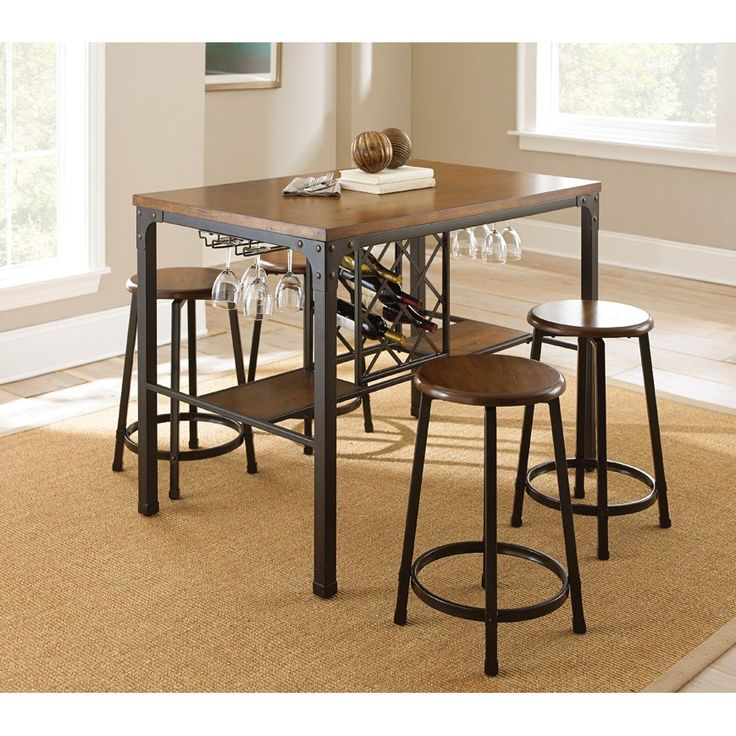 Steve Silver Furniture Rebecca Counter Height Pub Table Set