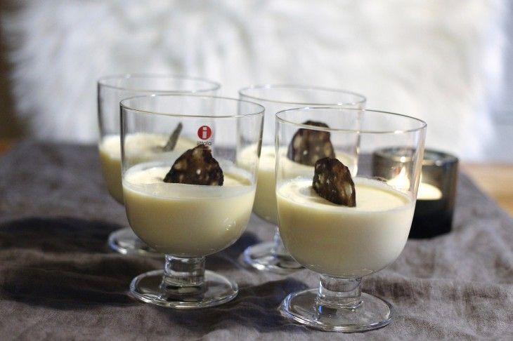Vit chokladpannacotta