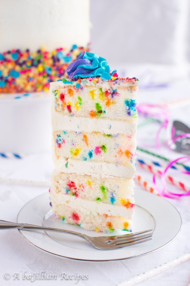 Peachy Homemade Funfetti Cake Funfetti Cake Mix Recipes Homemade Funny Birthday Cards Online Fluifree Goldxyz