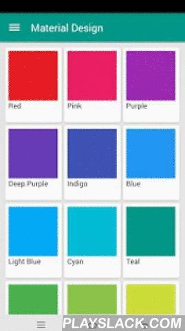 Material Design Toolkit  Android App - playslack.com , A set of tools to visualize Material Design UI elements on your devices.- Color palette- Typography size and style- Material Theme Builder- CardView Builder- Material icon catalogue- DP/PX Converter*You can preview the actual color and font effects on your real device. This app is the best tool for confirming theme colors with your project clients.*Optional In-app upgrade to Pro Version: with no Ad banners and unlock all features.