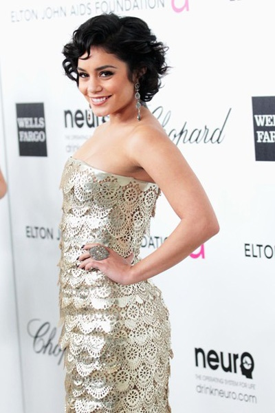 Katy Perry, Vanessa Hudgens shimmer at Elton John Academy Awards Viewing Party