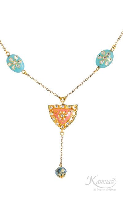 Delicate designer kundan #necklace from #Kamnaz for more info contact support@kamnaz.com or call +91-9820684516