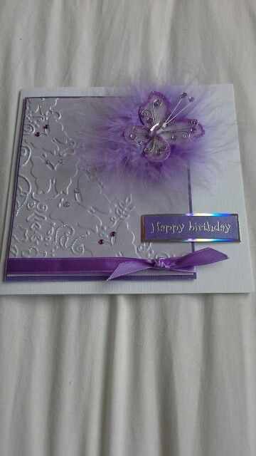 Embossing  card with sissix texture  boutique