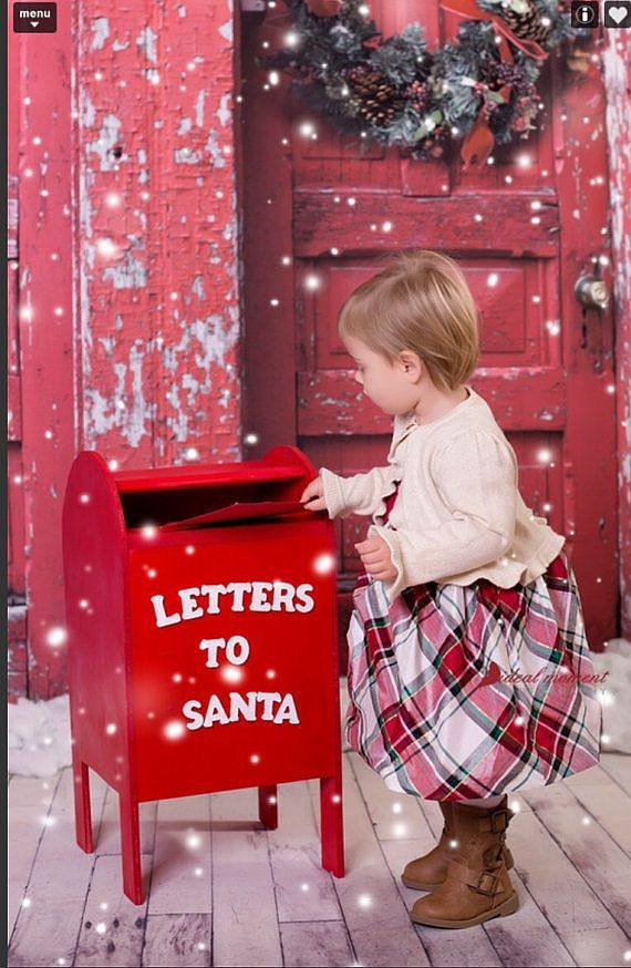 Bring the holiday magic to your home with a letters to Santa mailbox Christmas prop.