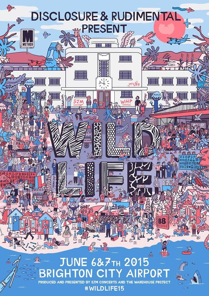 WILDLIFE FESTIVAL (6th - 7th Jun 2015) Rudimental and Disclosure present a new festival for Brighton, featuring Sam Smith, George Ezra, Jamie XX, Wu-Tang Clan, Annie Mac, Heidi, Maya Jane Coles, Seth Troxler, David Rodigan and more in summer 2015. Tickets on sale Friday 30th Jan --> http://www.allgigs.co.uk/FestivalGuide#wildlifefestival_entry