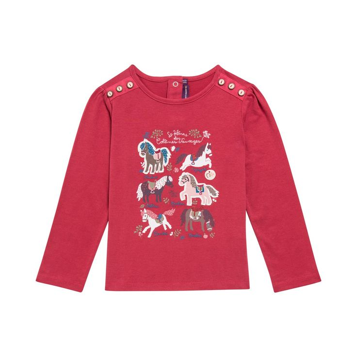 Tee Shirt Manches Longues Rouge