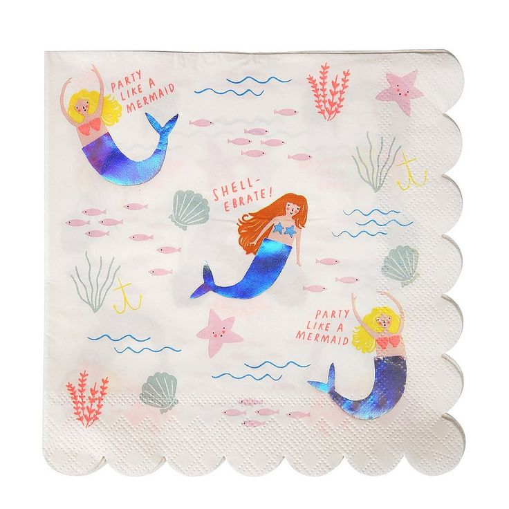 #MeriMeri #Mermaids #servet #kinderfeestje #servetjes #girls #meisjes #feestje