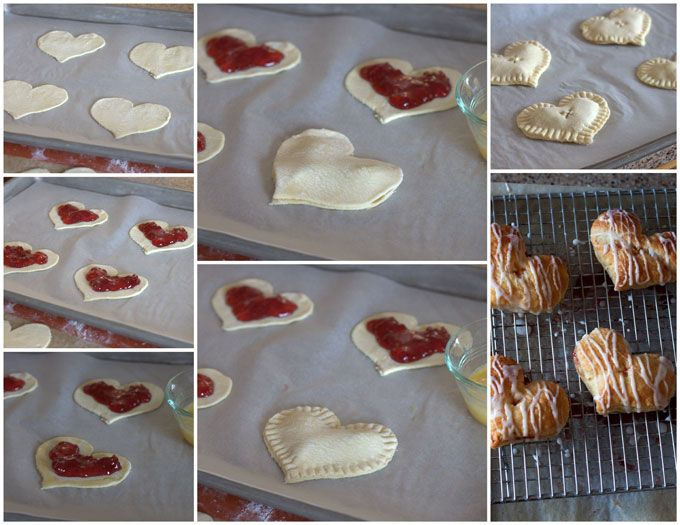 Heart Shaped Cherry turnovers