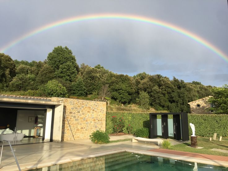 Wow! #rainbow over Mindfulness Mountain Retreat