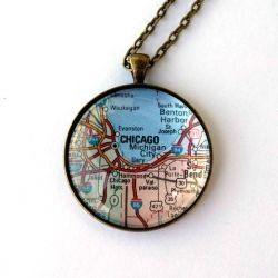 Make your own necklace with a piece of home or someplace special!
