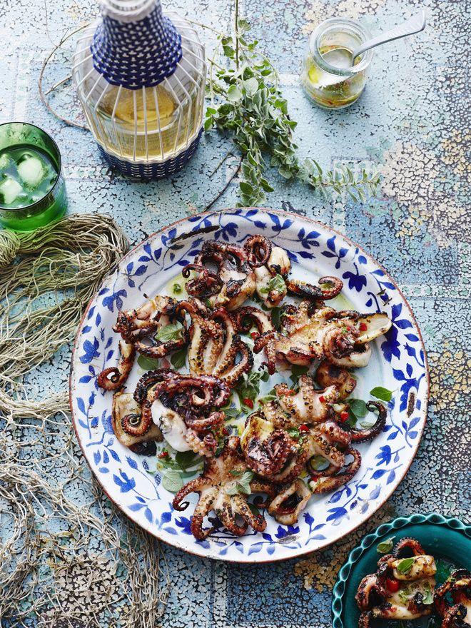 Salade de seiches et de Poulpes à la Plancha