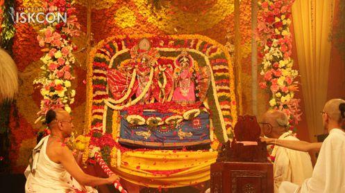 Sri #Brahmotsava celebrations (April 14,2017) - ISKCON Bangalore  Sri Sri Radha Kunjabihari Alankara - Kalpa Vriksha Vahanotsava