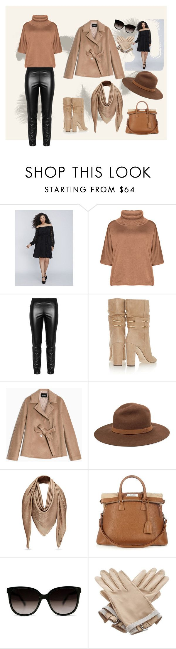 """beinstyle even in cold weather"" by litaeva on Polyvore featuring Lane Bryant, Isolde Roth, Elena Mirò, Jimmy Choo, Max&Co., rag & bone, Maison Margiela и Hermès"