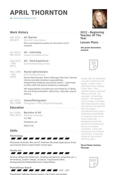67 Beautiful Collection Of Elementary Teacher Resume Examples 2012