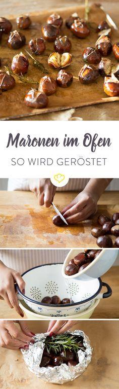 Maronen oder Esskastanien sind - frisch geröstet - ein leckerer und gesunder Wintersnack, den du ganz einfach im eigenen Backofen zubereiten kannst.