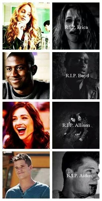 I remember Alison's death I cryI was so sad and they can't replace her and i remember the others too :(:(:(:(