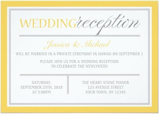 Reception Invitation Wording After Destination Wedding: 1000+ Ideas About Home Wedding Receptions On Pinterest