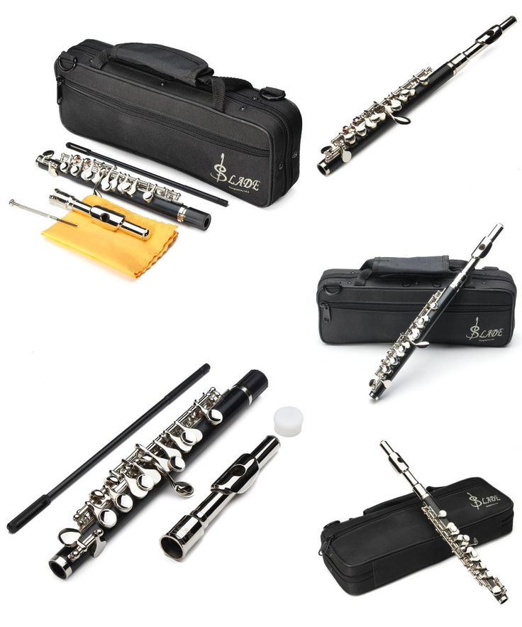 [Visit to Buy] LADE ABS Pipe Silver C Tone Piccolo Flute With Cloth Case Cupronickel    #Advertisement