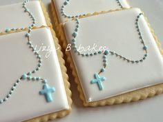 galletas para bautizo o primera comunión - baptism cookies