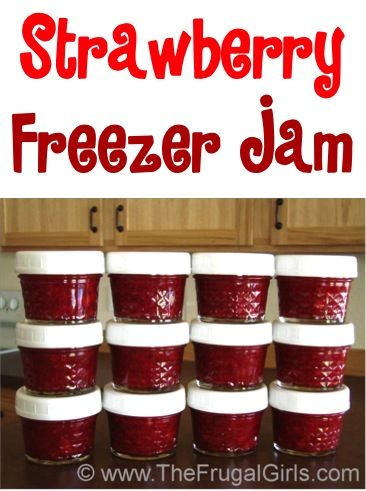 Looking for the most delicious Easy Freezer Jam Recipe? I've got just the thing! Stock your freezer with yummy jam and give some more as fun Gifts in a Jar!