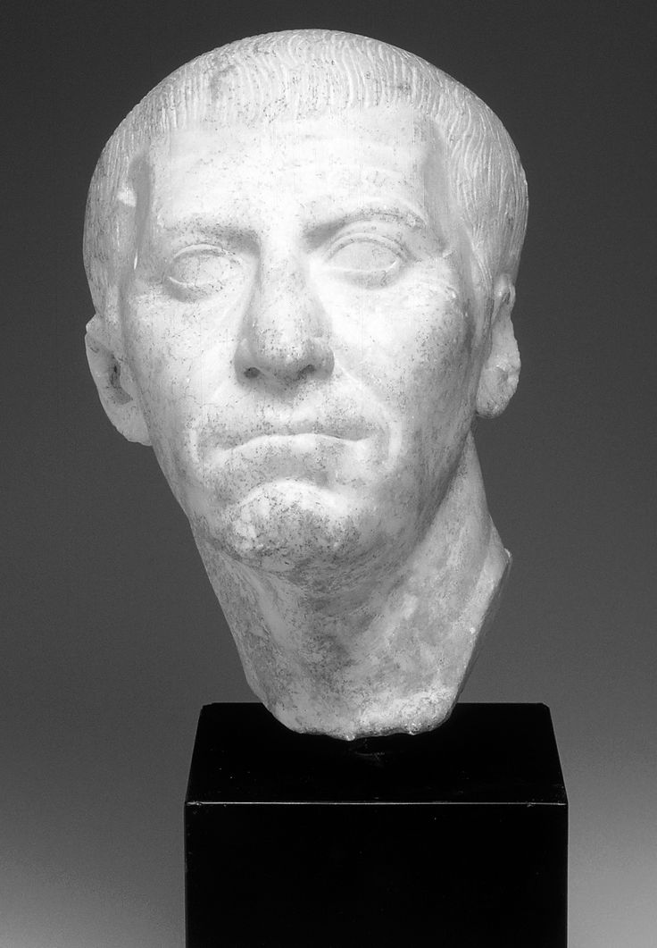 CASSIUS. A marble bust identified by some as Gaius Cassius Longinus, one of Caesar's leading assassins as well as Brutus's brother-in-law. (Montreal, Museum of Fine Arts)