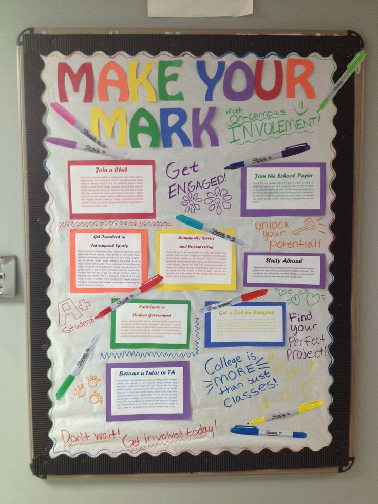 Engagement Bulletin Board Make Your Mark On Campus By