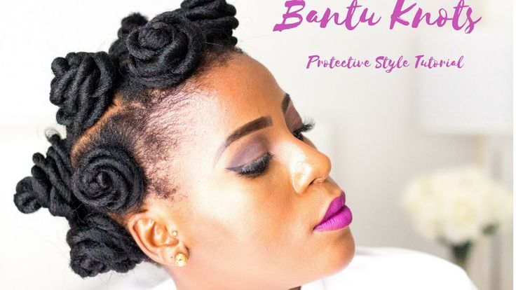 How To | Bantu Knots With Extensions |Natural 4C Hair | Miriam Maulana| ...