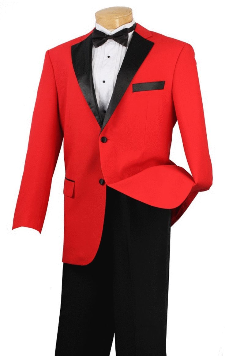 Men's Prom Tuxedo Collection With Fancy Lapel In Red 2 Button Design