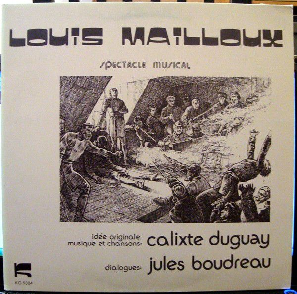 Louis Mailloux, spectacle musical