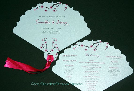 Japanese Cherry Blossom Flower Theme Wedding by CreativeOutlookDes, $2.25