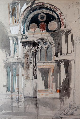 St Marks, Venice - watercolour by John Ruskin