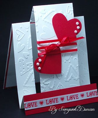 center step card. Like the embossing on the main panels of the card