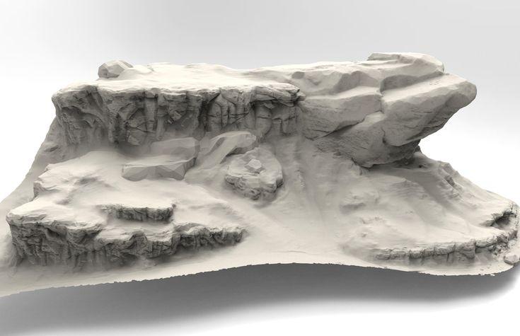 Rock/Terrain Speed sculpt studies, Jared Sobotta on ArtStation at https://www.artstation.com/artwork/rock-terrain-speed-sculpt-studies-46964a24-a04c-400d-8e64-df3d395199cd