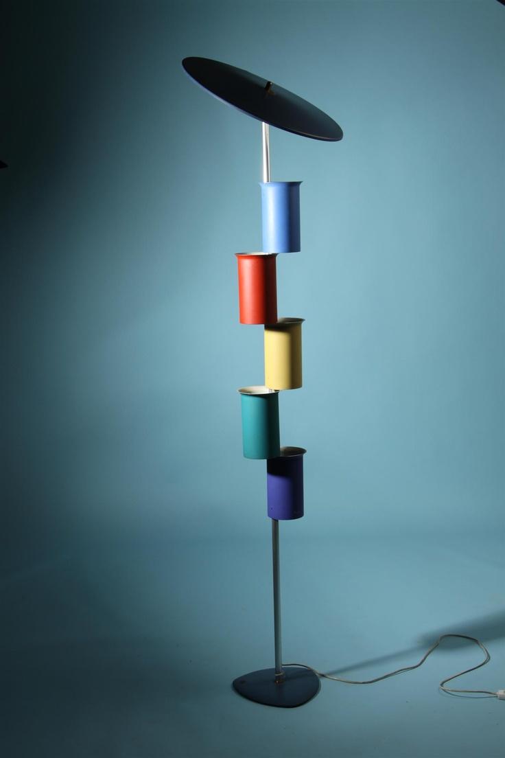 Attributed to Simon Henningsen, Floor lamp, 1950s.