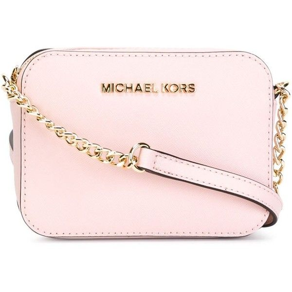 Michael Michael Kors Jet Set Travel Crossbody Bag ($120) ❤ liked on Polyvore featuring bags, handbags, shoulder bags, leather shoulder bag, travel purse, cross body travel purse, leather crossbody handbags and leather purse