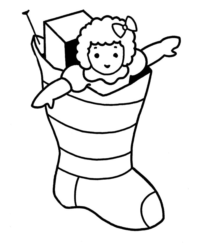 7 best christmas images on pinterest - Christmas Stocking Coloring Pages