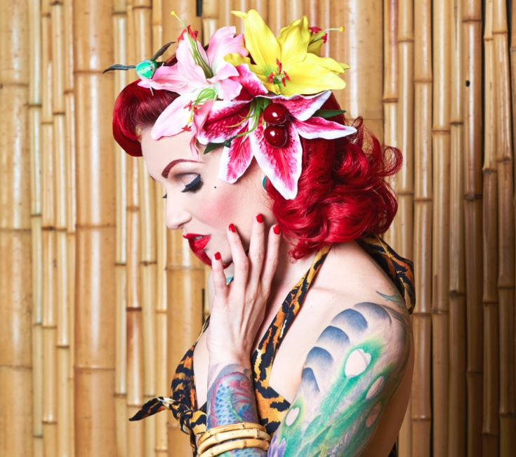 Rockabilly and Pin Up Hair Flowers at Lady Luck's Boutique