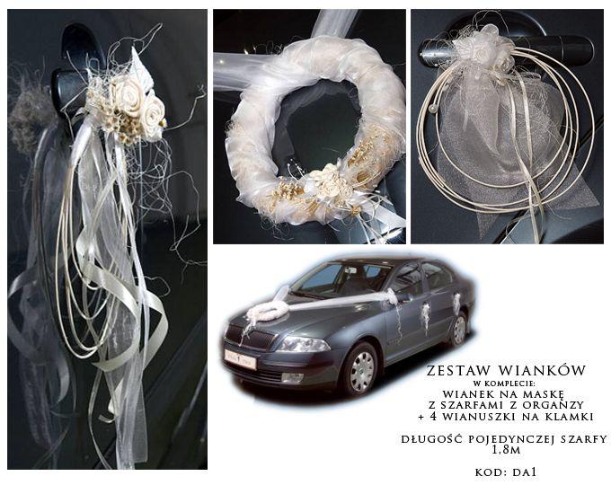 Dekoracje samochodu - kwiaty, wstążki, tablice rejestracyjne, puszki i inne dodatki - decARTe