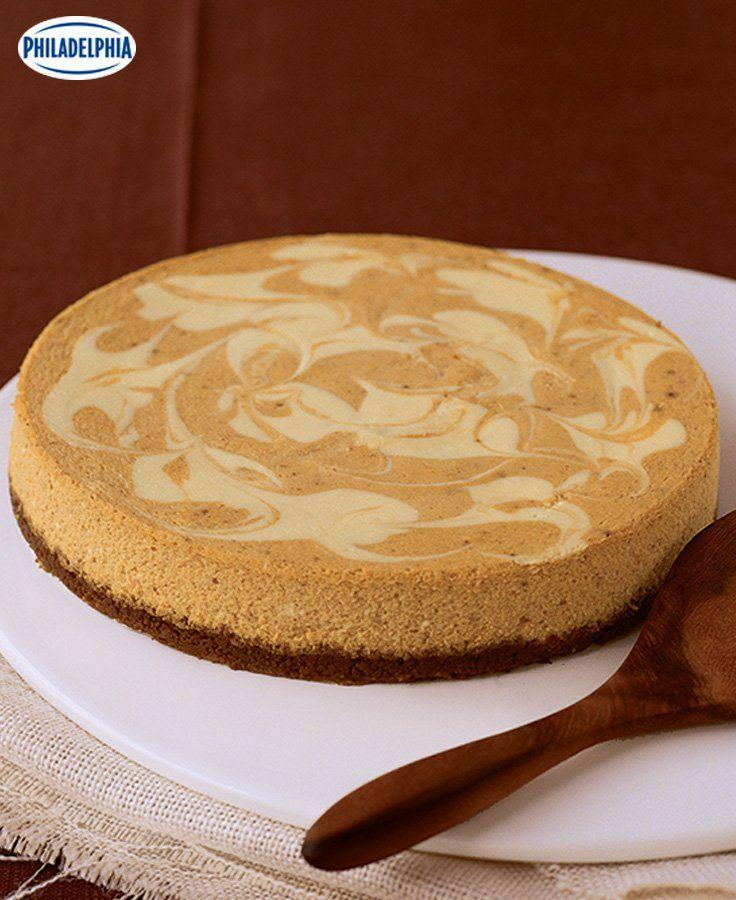 Gâteau au fromage marbré à la citrouille #recette
